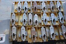 lot de 19 serrures diverses de meuble acier laitonné  ,  neuf