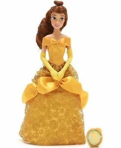 AUTHENTIC DISNEY PRINCESS BELLE DOLL 32cm  BEAUTY AND THE BEAST KIDS TOY NEW