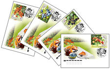 Russia-2021. Flora of Russia. Berries. 4 FDC