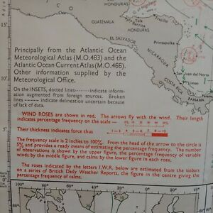 Routeing Chart North Atlantic Ocean 5124 (5) Admiralty Routing Map 1980 Revision