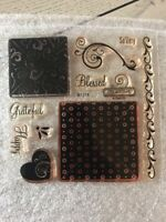 CLOSE TO MY HEART MY ACRYLIX STAMP SET MIRACLE BLESSED B1378 CTMH