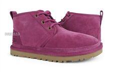 UGG Neumel Bougainvillea Suede Fur Shoes Womens Size 8 ~NIB~