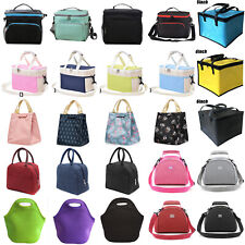 Students Kids Adult Lunch Bags Insulated Cool Bag Picnic Lunchbox Food Storage
