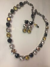 Swarovski Crystal Elements In Antique Silver Black Gold Clear Chain 8mm Jewelry