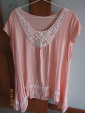 Summer/Beach Short Sleeve Unbranded Solid Tops & Blouses for Women