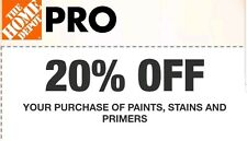 Home Depot Coupon 20% Off Select Paints, Primers, and Stains - In Store