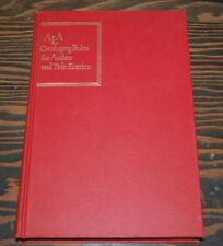 ALA CATALOGING RULES FOR AUTHORS & TITLE ENTRIES 1949 HB