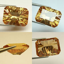 35 cts Huge Concave Radiant (20x15 mm) Lab Champagne Brown Diamond K92