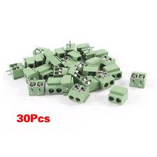 30Pcs 2 Pole 5mm de hauteur PCB Montage bornier a vis 8A 250V WT