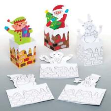 Make Your Own 3D COLOUR IN Kids Xmas Cards POP UP Santa Snowman Reindeer Craft