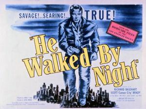 He Walked by Night 1948 Crime Film-Noir Movie DVD