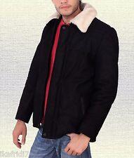 Men Fashion Handmade Soft Sheep Buff Leather Jacket Small-5XL Black & Brown