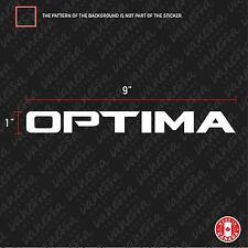 2X  KIA OPTIMA  sticker vinyl decal