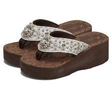 Montana West Flip Flops Bling Wedge Sandals Kid Girls Shoes Summer Footwear 9-10