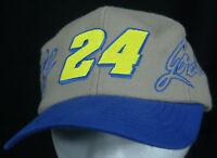 NASCAR #24 Jeff Gordon Tan/Blue/Neon Yellow Embroidered Signature Snapback Hat