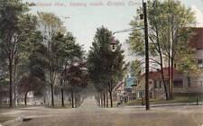 Antique POSTCARD c1908 Bellevue Avenue looking South BRISTOL, CT 16608