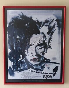 RARE ORIGINAL Robert Smith Self Portrait Signed Limited Edition Poster 739/1250