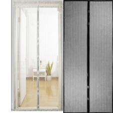 Mesh Magnetic Door Curtain Anti Mosquito Insect Window Snap Hands Free Curtains