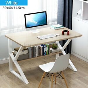 Study Computer Desk PC Laptop Table Book Workstation Wood Home Office with/Shelf