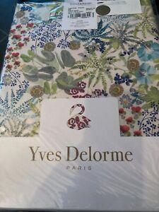 Yves  Delorme single fitted sheet prairie 95/197cm bnip
