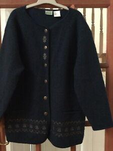 Vintage Penmans 100% Wool Cardigan/ Jacket Size Large