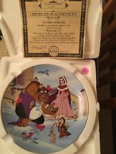 """Disney Beauty and the Beast Plate out of production by Knowles """"Warming Up"""""""