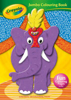 CHILDREN JUMBO COLOURING ACTIVITY COLOUR BOOK CRAYOLA A4 160 PAGES BOOK 2901/CYJ