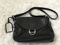 Ralph Lauren Lauren Saddle Leather Flap Shoulder Bag