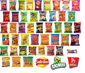 Mexican Chips Barcel Sabritas Leo Papitas Fritos Chili Flaming hot Large Variety