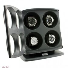 Mens Watch Winder Womens Black Independently Controlled Adjustable Accessories