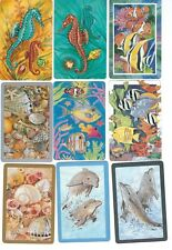 72 Different Marine & Aquatic Animal (Fish, Dolphin, etc.) Playing Card Singles