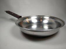 RARE Farberware 9 Inch Stainless Aluminum Stainless Saute Pan Omelette Skillet