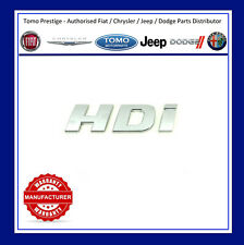 PEUGEOT HDI DOOR BADGE Emblem Boxer 3 III 2006+ HDi Crew Van Minibus Genuine New