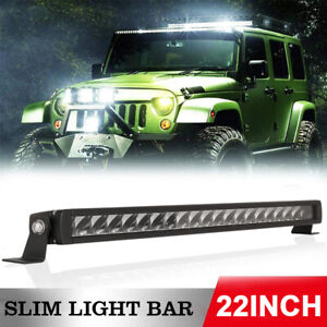 Osram 22inch LED Light Bar Slim Single Row Work Driving Lamp 4X4 Offroad Harness