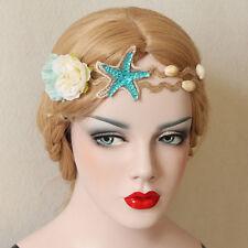 Wedding Bridal Flower Crown Hair Garland Jewelry Starfish Nature Shell Headband