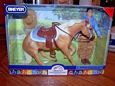 Breyer Horse New in Box Classic Scale WEG Palomino Reining Western Doll Set