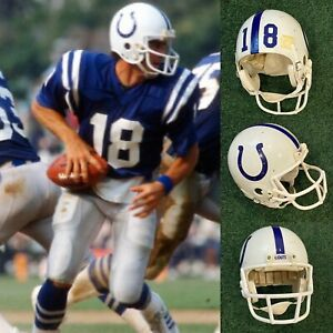 1985 BALTIMORE COLTS MIKE PAGEL GAME USED RIDDELL WD-1 HELMET