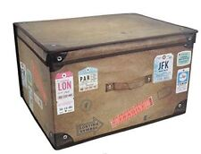 Large Collapsible Jumbo Storage Box Vintage Design Chest Clothes Toys Decor
