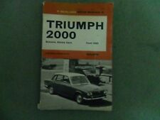 Olyslager Motor Manual - Triumph 2000 from 1963     P.OLYSLANGER