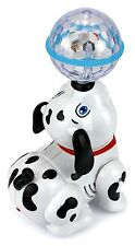 Dancing Dalmatian Dog Battery Operated Toy Figure w/ Flashing Lights, Sounds