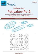Peewit 1/72 Petlyakov Pe-2 Canopy Paint Masks # 72204
