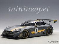 AUTOart 81530 MERCEDES BENZ AMG GT3 PRESENTATION CAR #1 1/18 MODEL CAR GREY
