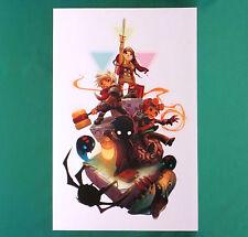 "Humble Indie Bundle Art Print Psychonauts Bastion Limbo Amnesi 11 x 17"" Jen Zee"