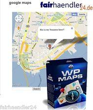 ►►WORDPRESS MAPS PLUGIN ►GOOGLE MAPS WP WORD PRESS STREET VIEW SOFTWARE E-LIZENZ