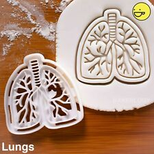 Anatomical Human Lungs cookie cutter |lung biscuit cancer awareness pulmonary