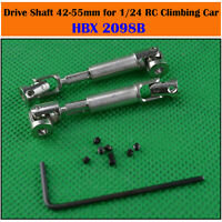 HBX 2098B Metal Transmission Axle Drive Shaft 42mm-55mm for 1/24 RC Climbing Car