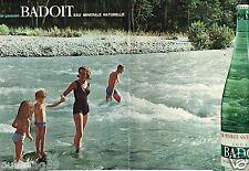 F- Publicité advertising 1963 (2 pages) Eau Minérale Badoit