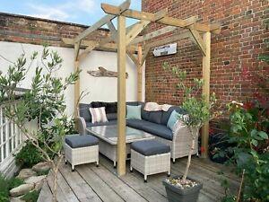 B GRADE 2.4m wide x 3.0m deep x 2.4m timber wooden garden gazebo pergola kit
