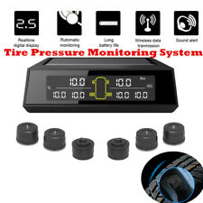 LCD Solar Wireless Tire Pressure Monitoring Sensors TPMS Set For Car Truck Bus