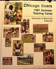 "Rare 1987 Chicago Bears Training Camp 16.5 x 21"" Poster Signed x3 Roland Barnes"